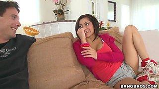 Young latina babe Vanessa Leon gets naughty