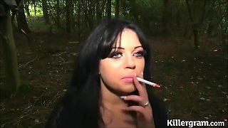 Catalia in woods