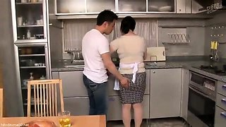 Horny Japanese housewife gets her twat licked and fingered