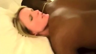 Sexy Blonde Wife Gets Real Orgasm With Black Man While Hubby Films