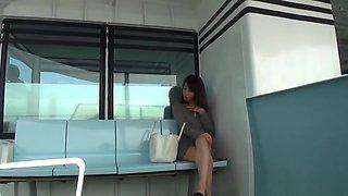 Japanese teen flashing