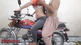 Girlfriend Fucked On Bike