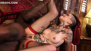 Stunning emo babe drilled hard by bbc