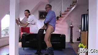 Salacious brunette Felicia in extreme sex