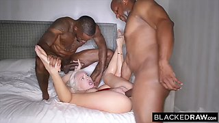 BLACKEDRAW Insatiable Elsa Jean is roasted on a spit by 2 BBCs