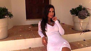 Sammy Braddy strips white dress to reveal her amazing body