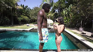 Interracial Heaven for Naturally Cute Gina Valentina