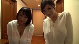 Lazy Sunday: Japanese Host Family (Mother & Stepdaughter) Are Well-Endowed