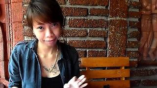 Breathtaking eastern doll Mai enjoys deep honey pot bang