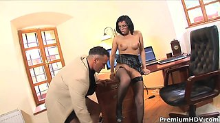Sexy secretary Renata Black gets her ass fucked