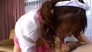 Exotic Japanese girl Hiyori Koharu in Hottest Babysitters JAV movie