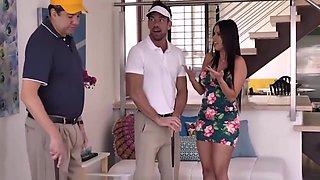 Juicy Ass Latina MILF Fucks Husbands White Golf Partner In Front Of Him