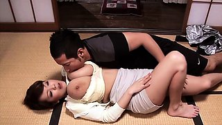 Bigtitted asian mommy cocksuck and titfuck