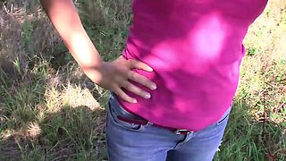 Bitch STOP - Sexy czech brunette gets fucked outdoors