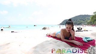 Hot Euro babe gets fucked in Thailand by some generous lover