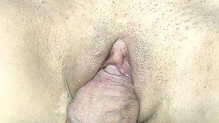 I take advantage of my stepsister's little pussy at night