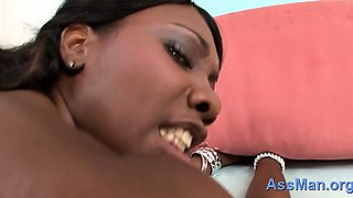 Horny Nyomi Banxxx with big natural tits gets wet fucking