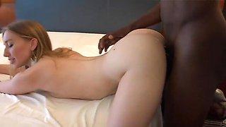 Blonde beauty wants more bbc creampie
