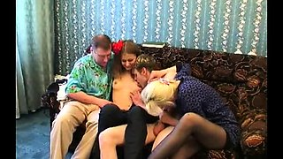 Young and mature couples set up a wild sexual experience