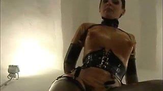 Latex porn models video with true german foot fetish