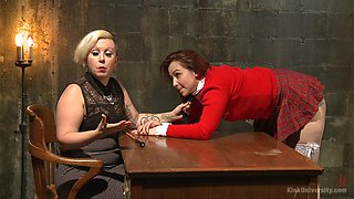BDSM and a role play are priceless for milf lesbian Tina Horn