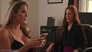 Full lesbo passion between MILFs in scenes of office XXX
