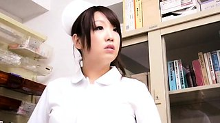 Big breasted Japanese nurse is in need of a hard shaft
