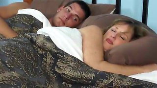 Sharing bed with female boss during business trip