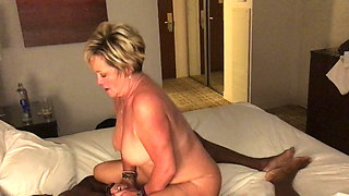 Interracial Swinger Wifes Fucks Young Black Man.