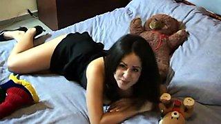 Fabulous brunette wife enjoys a steamy interracial threesome