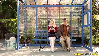 Riley Star And J Mac - Old Man Gets His Portion Of Pleasures At The Bus Stop