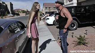 Bitchy stepmom asks her new lover to punish misbehaving teen Kaya