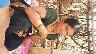 Desi aunty fucked hard in jungle hindi audio