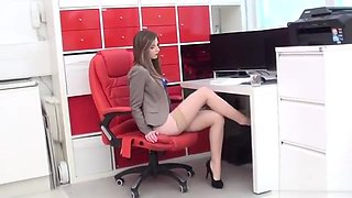 2014.07.09 Stella Cox - Stunning Nude Stocking Secretary