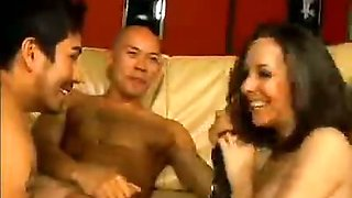 Bisexual Threesome Pegging