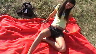 Episode dilettante sex with wicked angel fucking in nature's garb outdoor