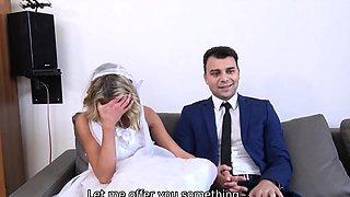 DEBT4k. Debt collector fucks the bride in white dress