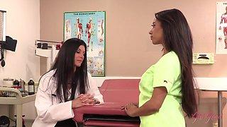 Doctor India Summer Gives Nurse A Private Examination