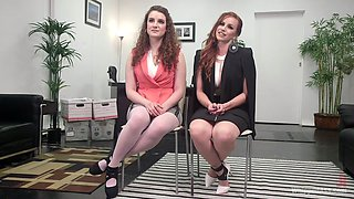 Amateur babes Bella Rossi and Endza Adair decide to have lesbo sex