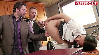 PORNO ACADEMY, College Babe Sophia Laure Has Threeway Fun At School