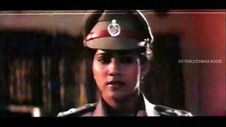 Indian police woman, lift and carry