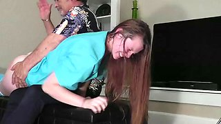 Hannah the naughty nurse severely spanked
