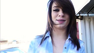 Mofos - Lets Try Anal - GF Bends Over Car and