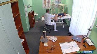 Innocent blonde gets the doctors massage