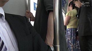 Horny Thicc Japanese Housewife Creampied On Train With Yuki Sakurai And Azusa Yagi