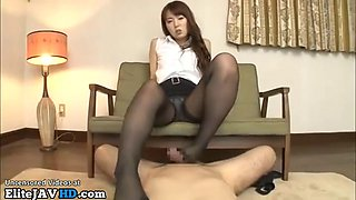 Japanese busty yui loves to have sex in pantyhose