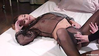 Caseys girlfriend with a black pantyhose fetish