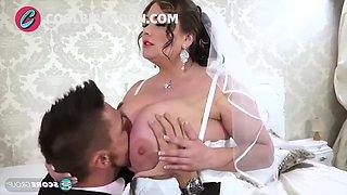 Big tits bride and big cock