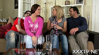 Impure and foursome with participation of nasty euro harlots