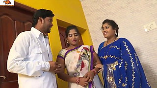 desi telugu sisters Pavitra and Bargavi have sex with old boss